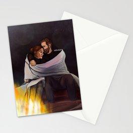 fireplace cuddles // kabby Stationery Cards