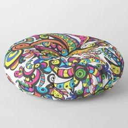 Apocalyptic Parrots Floor Pillow