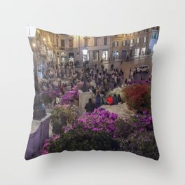 Piazza di Spagna and the Spanish Steps Throw Pillow