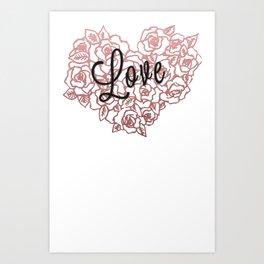 love flowers! Art Print