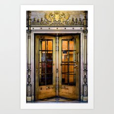 Golden Doors Art Print