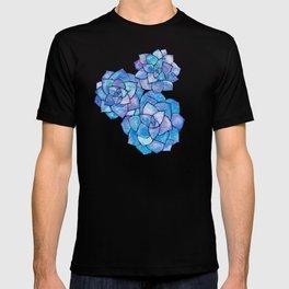 Rosette Succulents – Blue Palette T-shirt