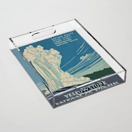 Yellowstone Works Progress Administration Acrylic Tray