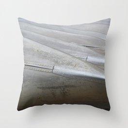 Iron canoes on shore Throw Pillow