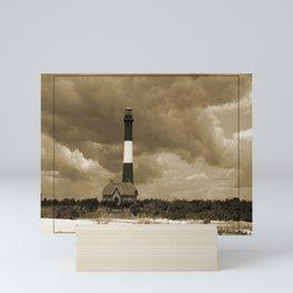 Fire Island Light In Sepia Mini Art Print