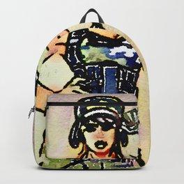 Female commando watercolour Backpack