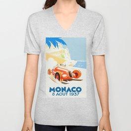 Grand Prix Monaco 1937 Unisex V-Neck