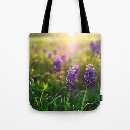 Grape Hyacinths (Muscari) Tote Bag