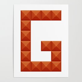 "Letter ""G"" print in beautiful design Fashion Modern Style Poster"