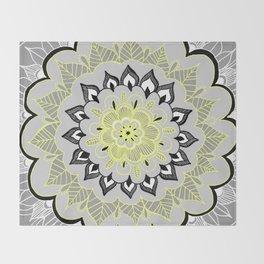Lemon & Charcoal Lace Throw Blanket