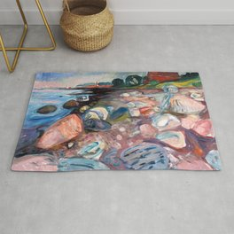 Edvard Munch - Shore with Red House Rug