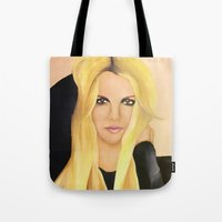 britney spears Tote Bags featuring BRITNEY SPEARS  .- BRITNEY JEAN  by Alfonso Aranda
