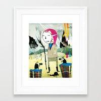 shadow Framed Art Prints featuring Shadow by Ronnie Rivera