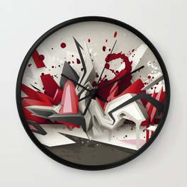 Red Metal Wall Clock