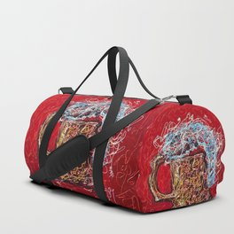 Abstract Beer - Inspired By Pollock  #society6 #wallart #buyart by Lena Owens @OLena Art Duffle Bag