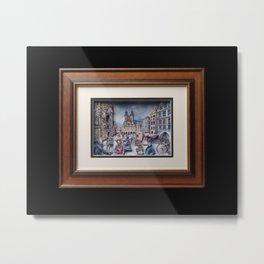 "Interior Handmade 3D picture ""Old Prague"" Metal Print"