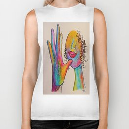 American Sign Language MOTHER Biker Tank