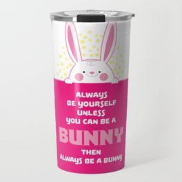 Bunny Sweet Rabbit Pajamas graphic I Lovely Animals Tee Travel Mug