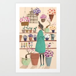 The Flower Shop Art Print