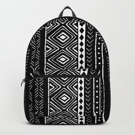 Black Mudcloth Backpack