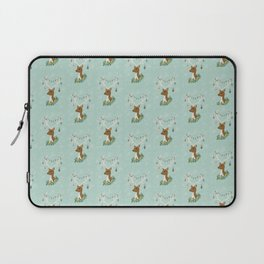 Vintage Inspired Deer with Decorations Laptop Sleeve