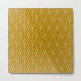 Art Deco Vector in Gold Metal Print