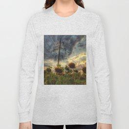 field of faded sunflowers  Long Sleeve T-shirt