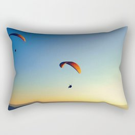 two paragliders in the sky Rectangular Pillow