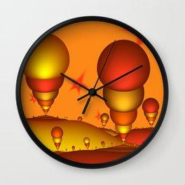 Fantasy Landscape, Fractal Art Wall Clock