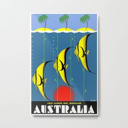 Australia Great Barrier Reef Queensland Metal Print