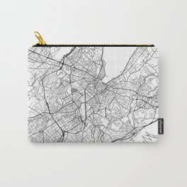 Geneva Map White Carry-All Pouch