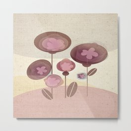 Flowers en Rose Metal Print