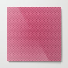 Blush Pink Scales Pattern Metal Print