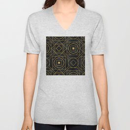 Chic Art Deco: Sophisticated Flirtation While Sipping Cognac Unisex V-Neck