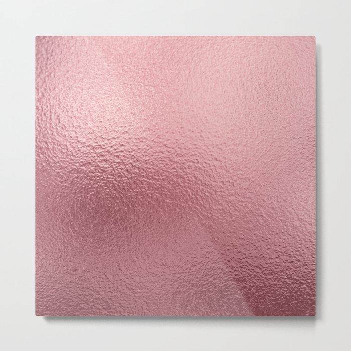 Pure Rose Gold Pink Metal Print