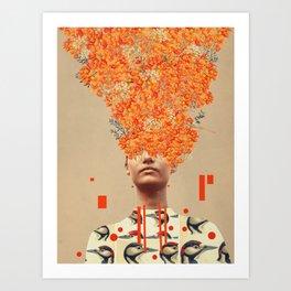 Bird Flight in Autumn Art Print