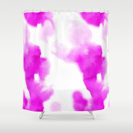 Magenta Watercolour Shower Curtain