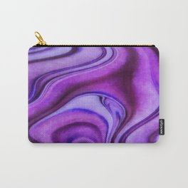 Violet wavy abstract Carry-All Pouch