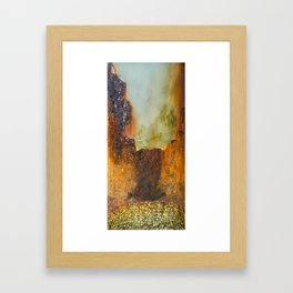 Melting Pier Pillar Framed Art Print