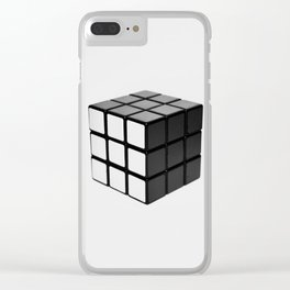 Minimalist Rubik's cube Clear iPhone Case