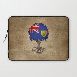 Vintage Tree of Life with Flag of Turks and Caicos Laptop Sleeve