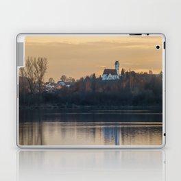 Nature lake and view to St.Martins Church Laptop & iPad Skin