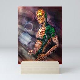Man And Machine Mini Art Print