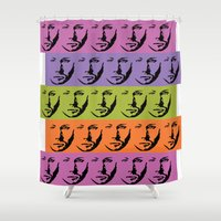 winchester Shower Curtains featuring Dean Winchester Warhol Style by Sumisu Illustrations
