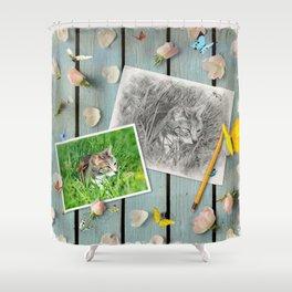 Châtaigne draw by GEN Z Shower Curtain
