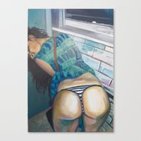 butt Canvas Prints featuring Butt by EmilyWhittemore