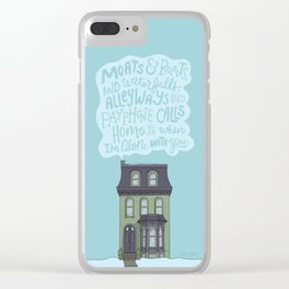 Home Is With You Clear iPhone Case
