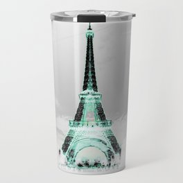 pariS Black & White + Mint Travel Mug