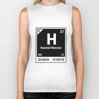 haunted mansion Biker Tanks featuring elements of H (Haunted Mansion) by designoMatt