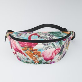 Floral and Flamingo VII pattern Fanny Pack